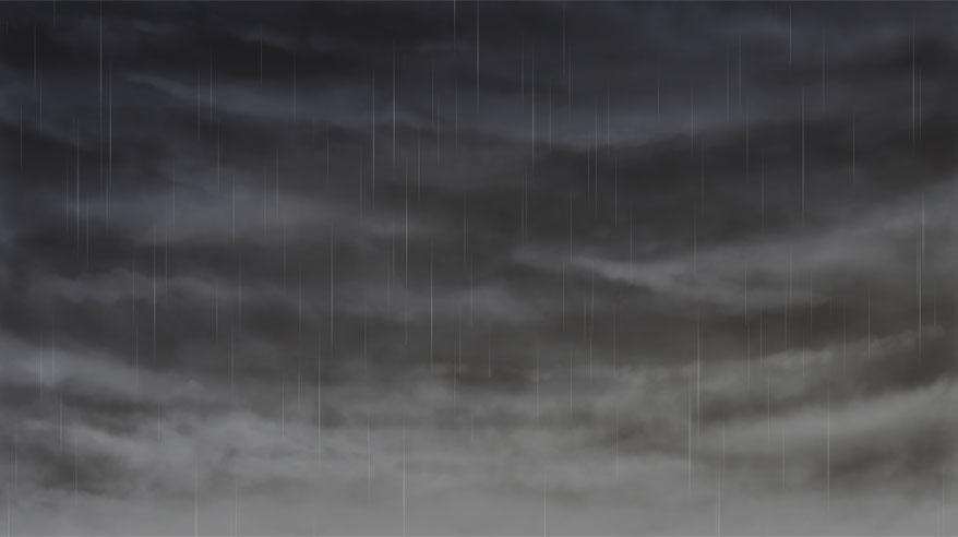 雨空を描いてみた
