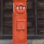 鞆の浦の常夜灯前にある郵便ポスト描いてみた