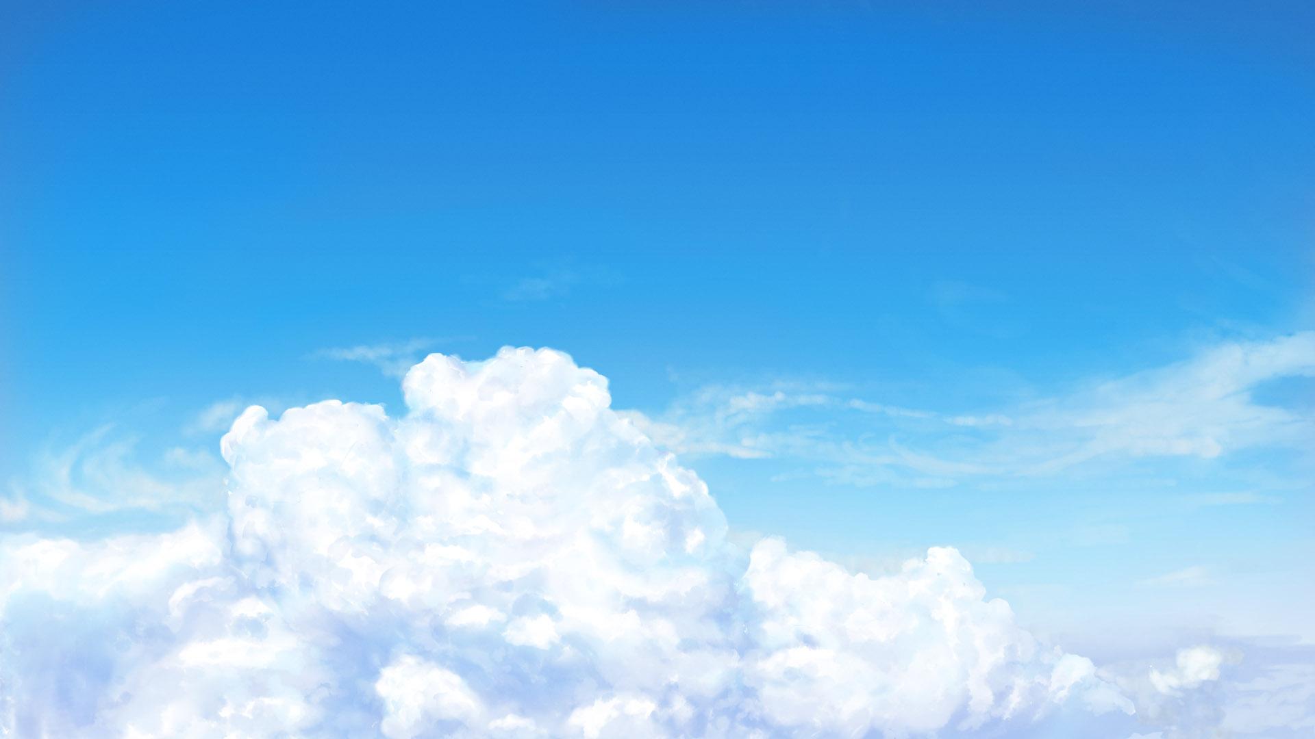 【フリー背景素材】 青空と雲