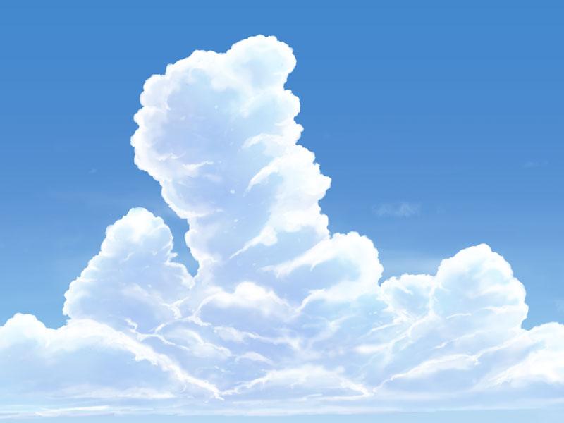 【フリー背景素材】 入道雲