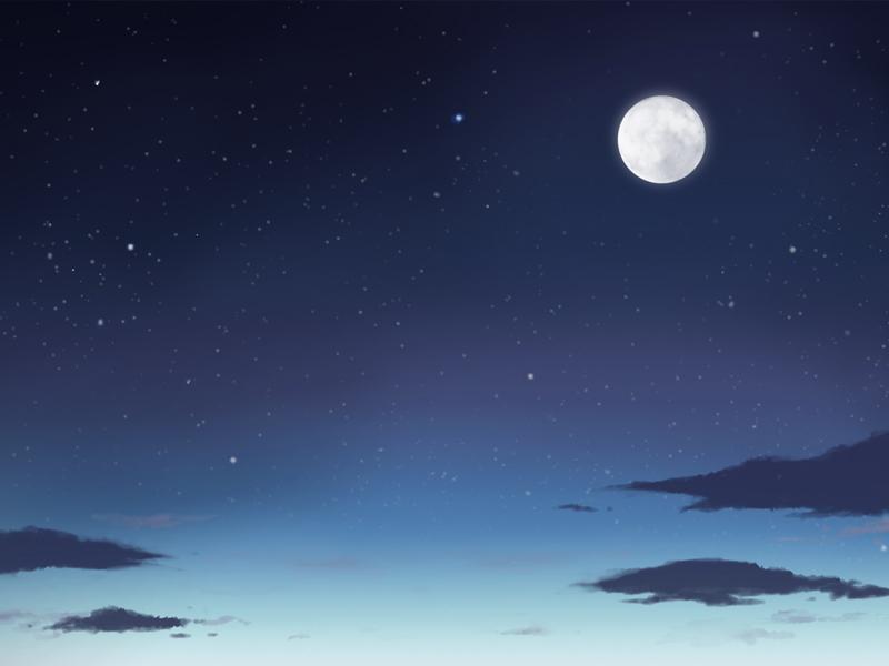 【フリー背景素材】 夜空