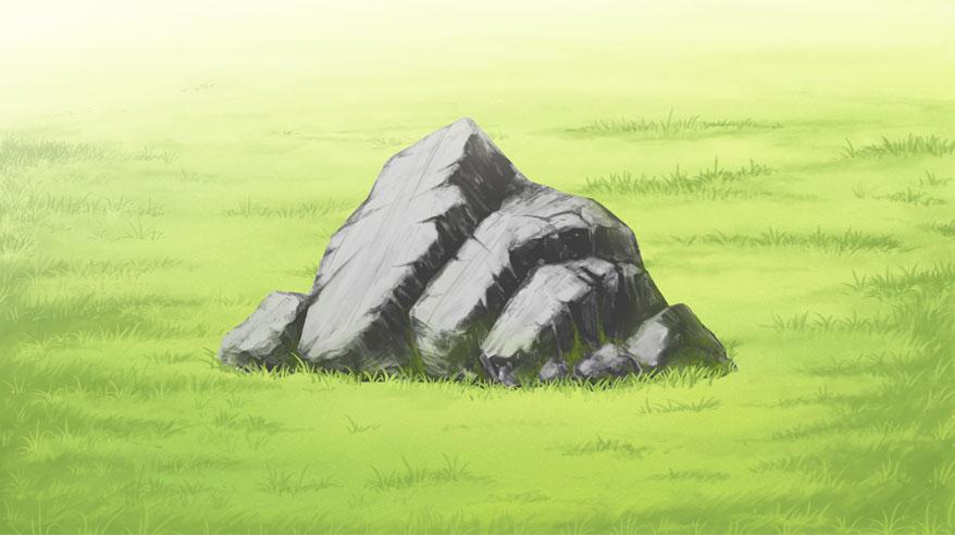 岩を描いてみた