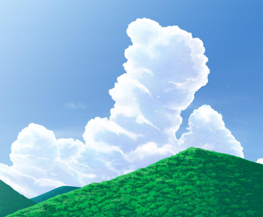 山を描いてみた