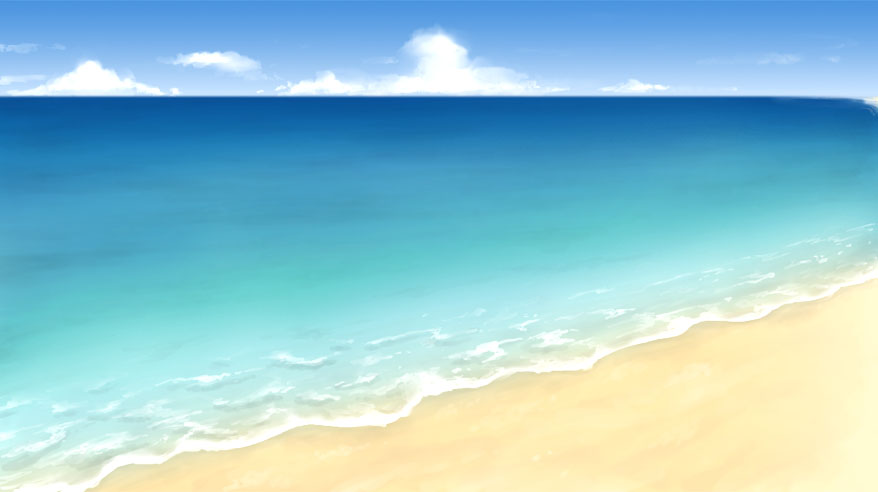 海を描いてみた