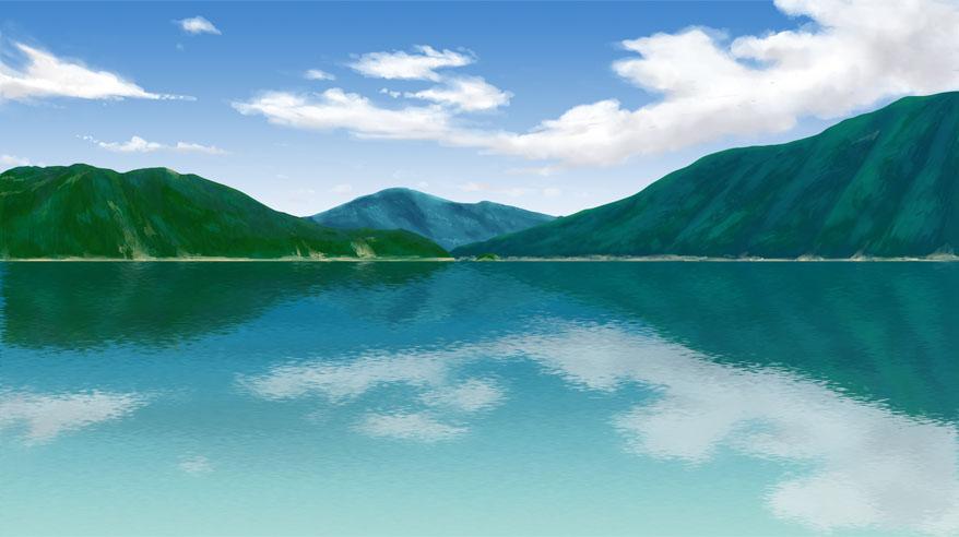 湖を描いてみた