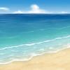 海の絵に色々描き足してみた