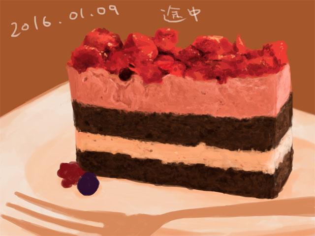 ベリーのムースケーキ・3