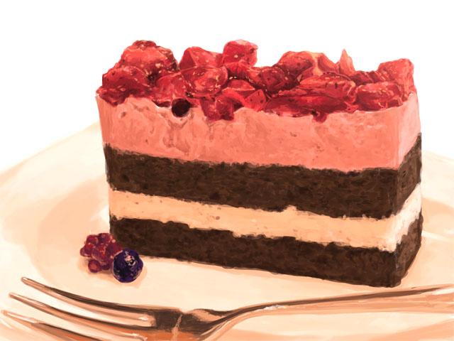 ベリーのムースケーキ完成です