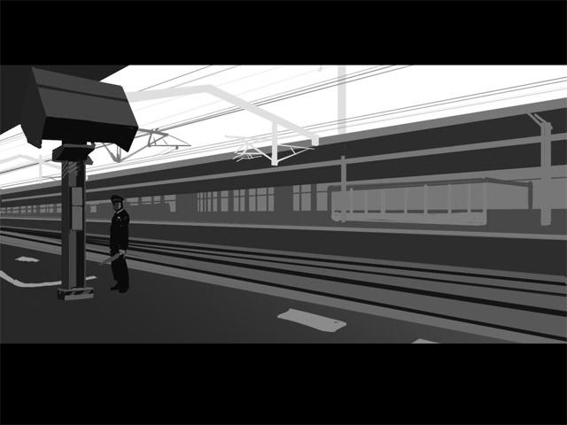 とある駅(描きかけ)