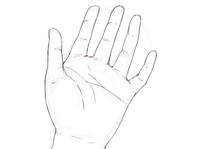 手を描いてみた