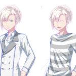 男子2立ち絵ラフ制服春、私服春