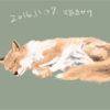 眠り狐描きかけ